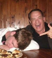 Tom Hanks - celebrity photobomb